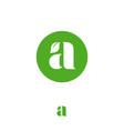 leaf monogram a letter leaf nature eco organic vector image vector image