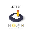 Letter icon in different style vector image