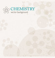 light chemistry background vector image vector image