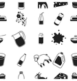 Milk pattern icons in black style Big collection vector image vector image