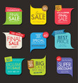 modern sale banners and labels collection 06 vector image