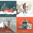 Mountaineering Design Concept vector image vector image