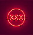 neon banner xxx text vector image