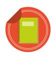 notebook school sticker vector image