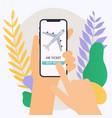 online booking ticked buy ticket online traveling vector image vector image