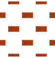 orange brick pattern flat vector image vector image