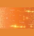 orange digital technology communication network vector image vector image