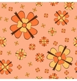Orange flowers with bows seamless pattern vector image vector image