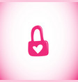 padlock with heart icon vector image
