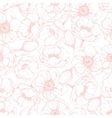 pink anemone seamless pattern Hand drawn vector image