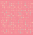 pink background with colorful circles vector image