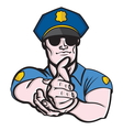 Police officer1 resize vector image