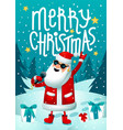 rock santa singing santa claus - rock star with vector image vector image