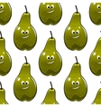 Seamless pattern of healthy fresh green pears vector image vector image
