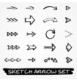 Sketch arrow set vector image vector image