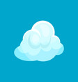 small fluffy cloud in blue sky weather symbol vector image vector image