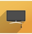 Smart TV flat style vector image vector image