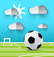 Soccer Ball on Playground Football Footbal vector image vector image