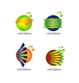 Sphere logo set icon vector image vector image