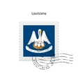 State of Louisiana flag postage stamp vector image vector image