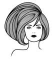 stylized fashionable beautiful girl vector image vector image