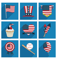 usa icons vector image vector image