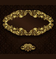 Vintage gold frame and detailed seamless pattern vector image vector image