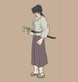 vintage samurai vector image vector image