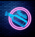 vintage tequila emblem glowing neon sign vector image