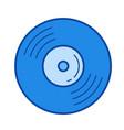 vinyl disk line icon vector image