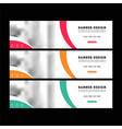 web banners templates horizontal web bann vector image