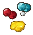 Yellow red and blue precious stone vector image vector image