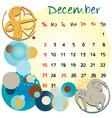2012 calendar december vector image
