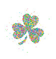 abstract four leaf clover st patricks day vector image