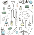Chemical Laboratory Seamless Pattern vector image