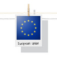 photo of european union flag vector image