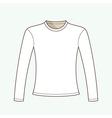 Long Sleeved T-shirt vector image