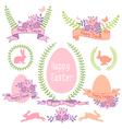 Happy Easter design set vector image