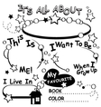Coloring Page All about me Editable