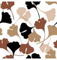 abstract autumn foliage seamless pattern vector image