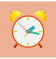 Alarm Clock Isolated on Orange Background vector image