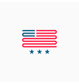 American flag logo red and blue ribbon design vector image vector image