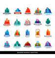 architecture buildings geometry silhouette vector image