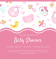 baby shower invitation banner template pink card
