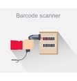 Barcode Scanner Icon Design Style vector image