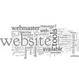 benefits of webmaster toolkit and resources vector image vector image