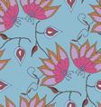Bright summer hand drawn seamless pattern vector image