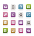 business and office realistic internet icons - vec vector image vector image