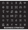 business strategy editable line icons set vector image vector image