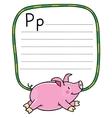 Children of little pig Alphabet P vector image vector image